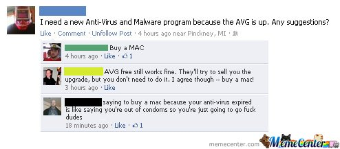 I need a new anti-virus and malware program. - buy a mac