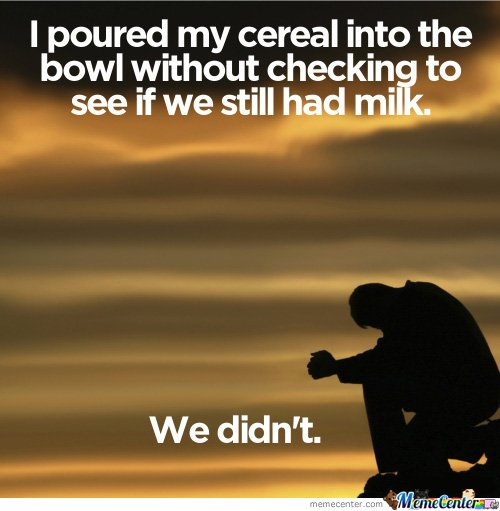 I poured my cereal into the bowl..