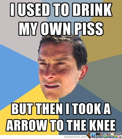 I used to drink my own piss