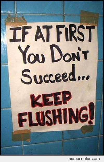 If At First You Dont Succeed, Keep Flushing