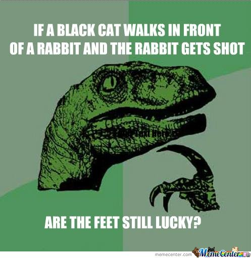 If A Black Cat Walks In Front Of A Rabbit