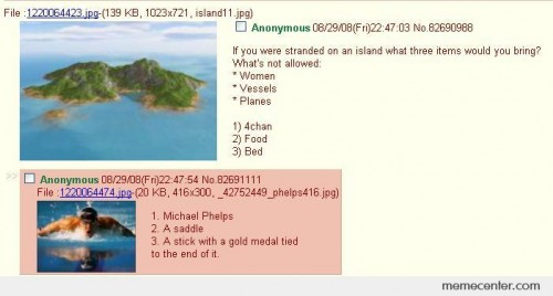 If you were stranded on an island...