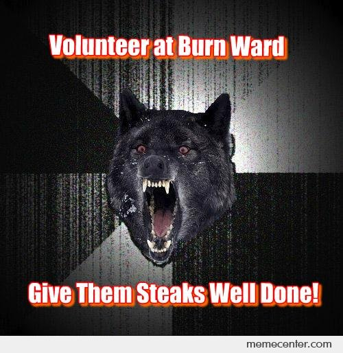 Insanity Wolf on Volunteering