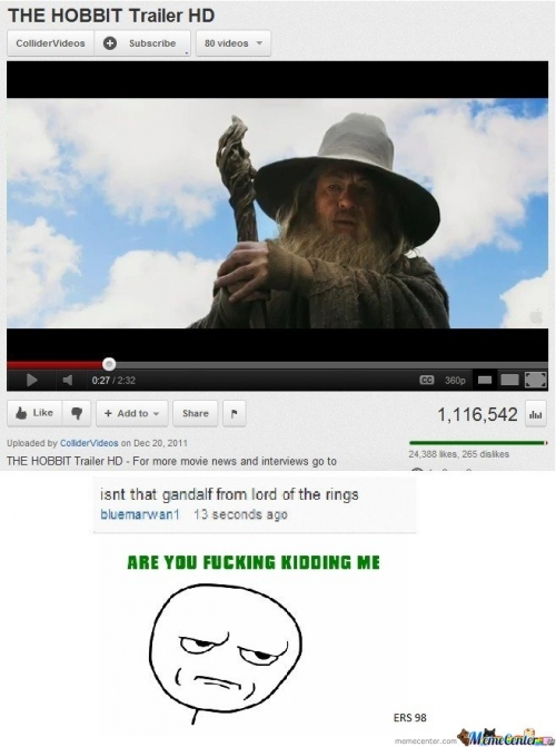 Isnt That Gandalf From Lord Of The Rings