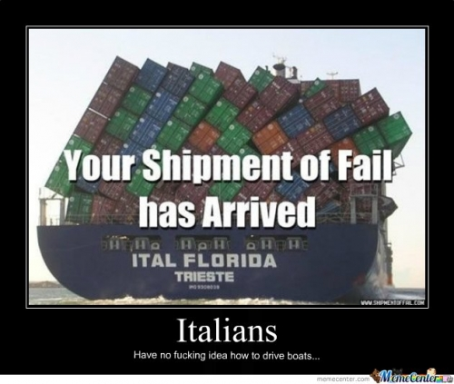 Italians cant drive boats