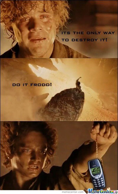 It's the only way to Destroy It Frodo