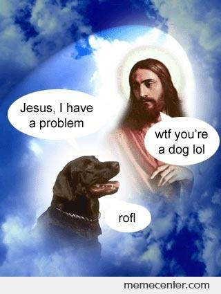 Jesus and Dog