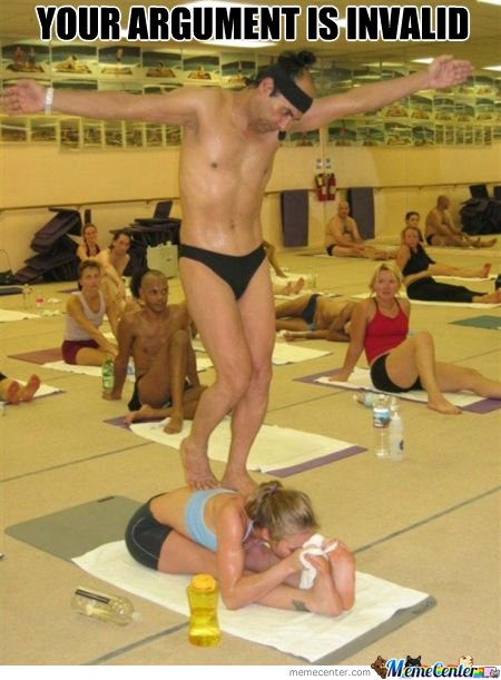 Jesusing On a Woman Making Yoga