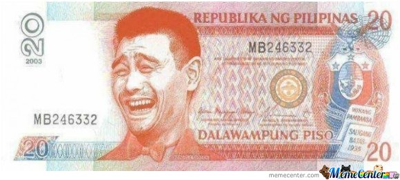 Just a Philippine 20 pesos... wait, what?