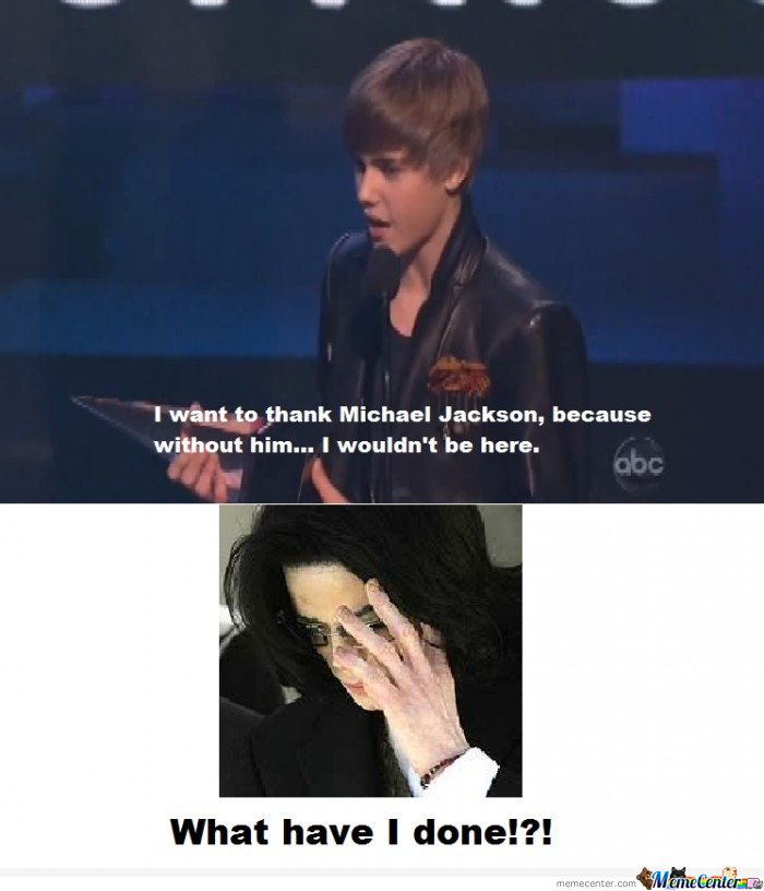 Justin Bieber - I want to thank Michael Jackson