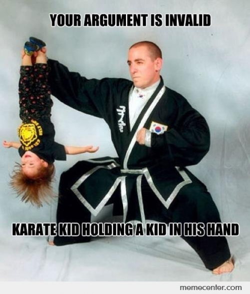 Karate Kid Holding A Kid