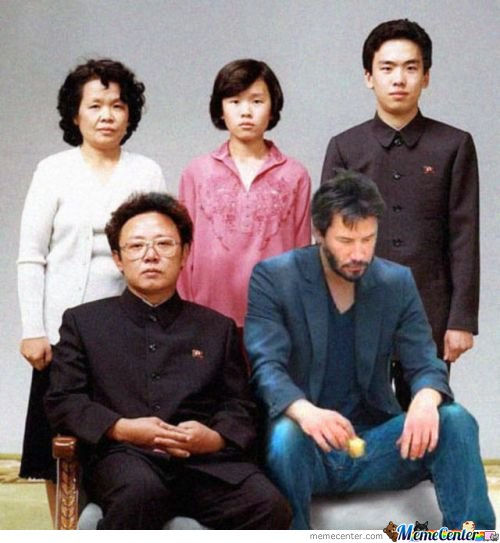 Keanu With Family