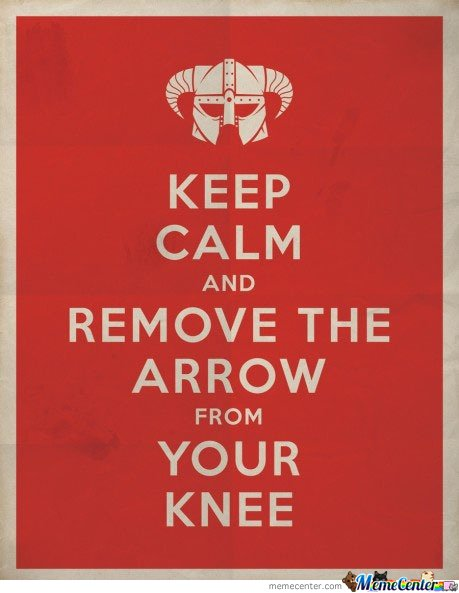 Keep calm and remove the arrow