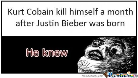 Kurt Cobain Killed Himself A Month After...