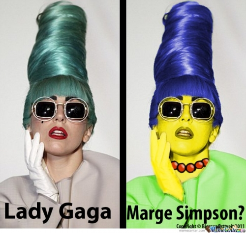 Lady Gaga & Marge Simpson?