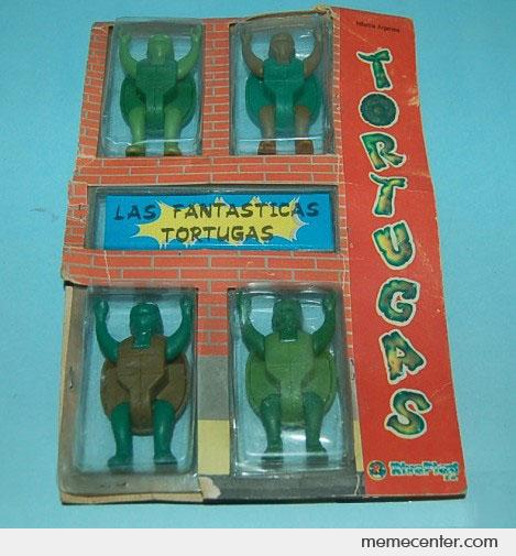 Las Fantasticas Tortugas! Worst Action Figues Ever