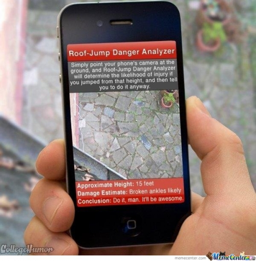Latest iphone App - Roof Jump Danger Analyzer