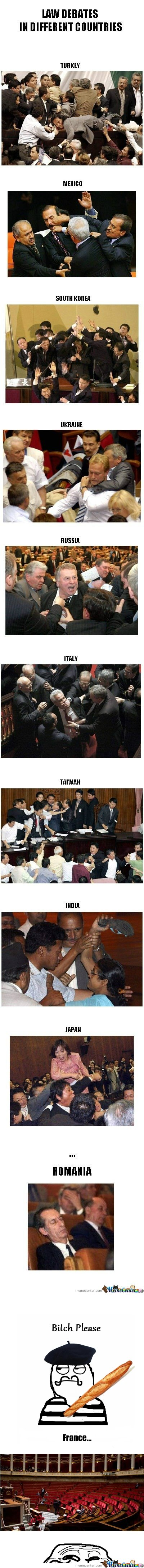 Law debates in different countries... And France