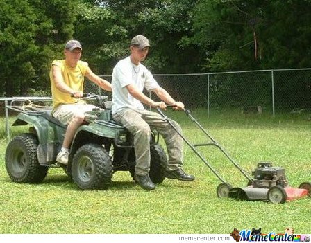 Lazy Lawnmowing