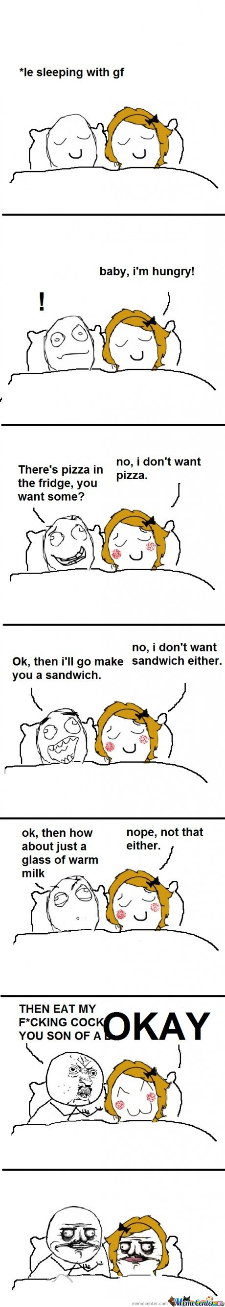 Le sleeping with gf rage