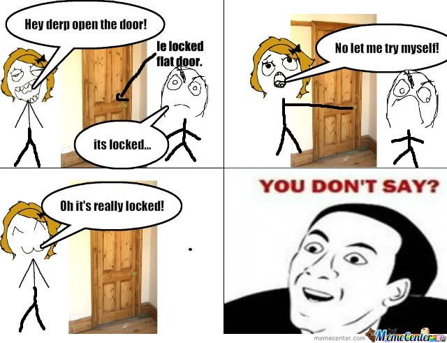 Locked flat door...