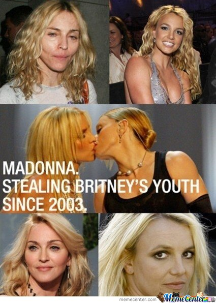 Madonna Stealing Britney's Youth Since 2003