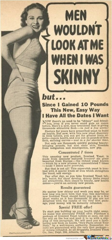 Man Wouldn't Look At Me When I Was Skinny