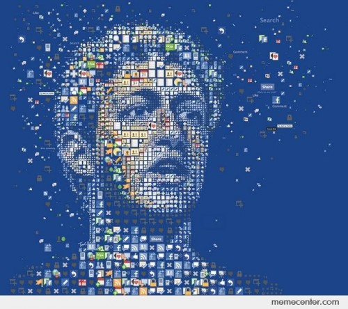 Mark Zuckerberg's Portrait in Facebook Apps