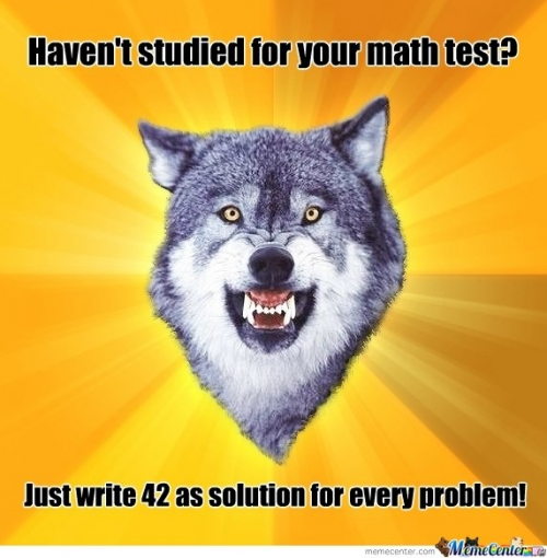 Math Test advice!