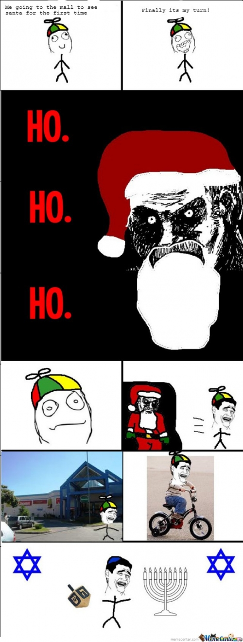 Me going to the mall to see santa for the first time..