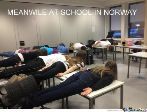 Meanwhile At School In Norway!
