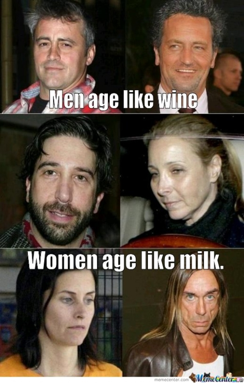 Men Age Like Wine. Women Age Like Milk.