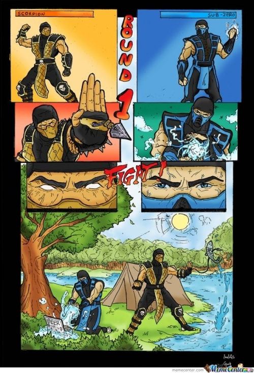 Mortal Kombat Comic - Subzero & Scorpion