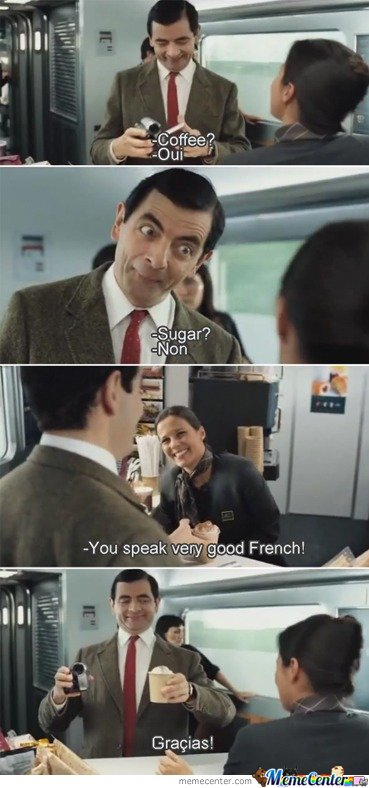 Mr Bean too smart