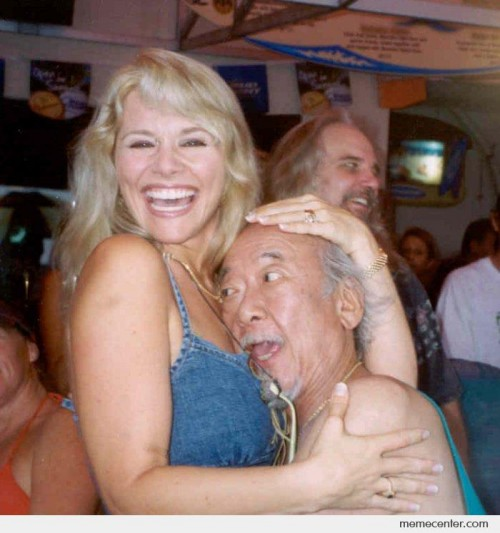 Mr. Miyagi is Happy
