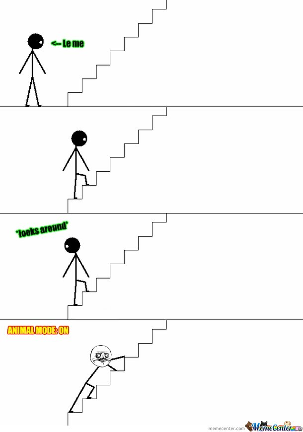 My way of walking up the stairs