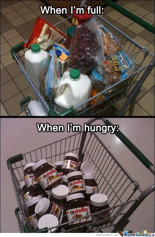 Never Go Shopping When Hungry