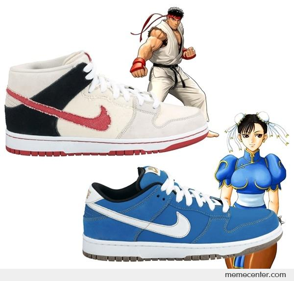 ... trainer shield and nike free. nike dunk street fighter pack