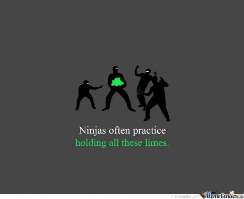 Ninjas often practise holding all the limes