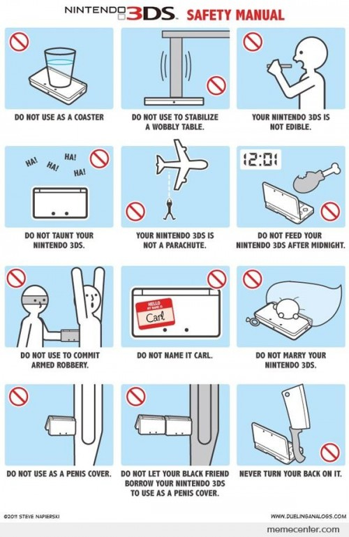 Nintendo 3DS Safety Manual