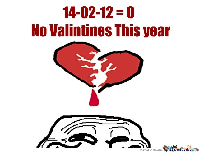 No Valintines This year