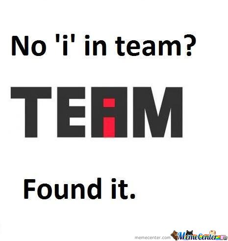No i In Team?