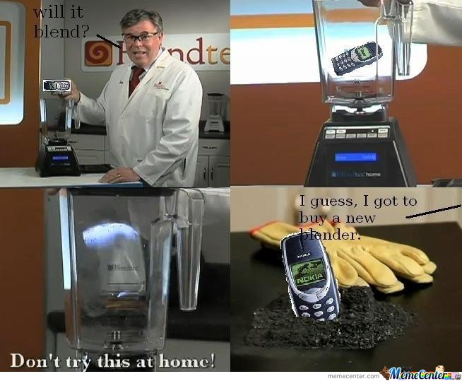 Nokia 3310 - Will it blend?
