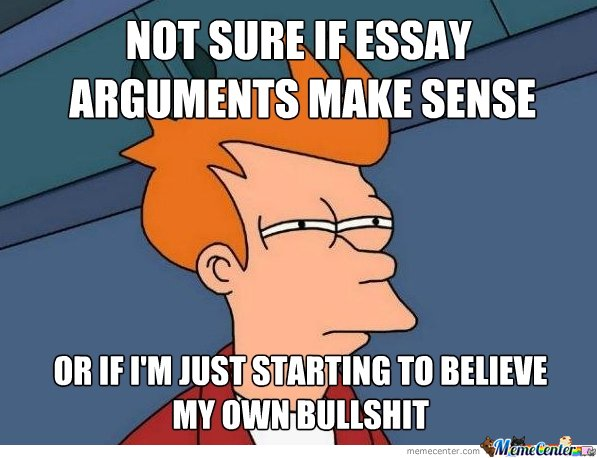 Not Sure If Essay Arguments Make Sense
