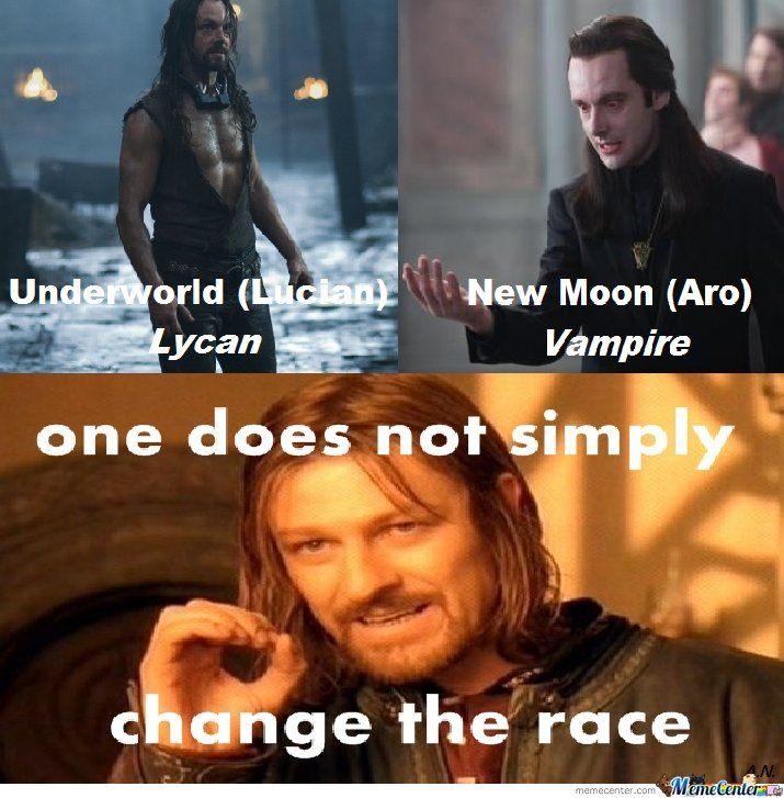 One does not simply change the race