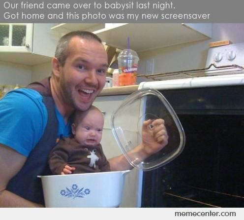 Our Friend Came to Babysit Last Night