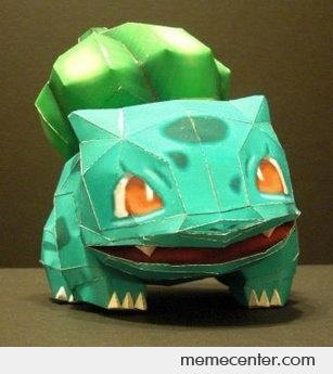 how to make bulbasaur with paper