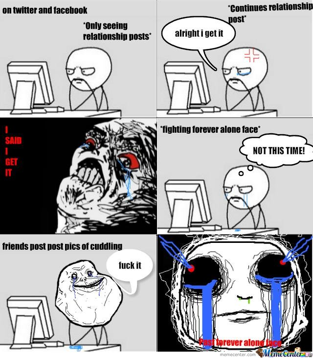 Past forever alone