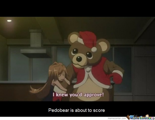 Pedobear is about to score