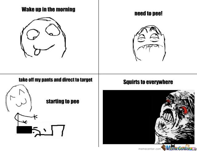 Pee in the morning